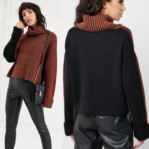 New Topshop Oversized Roll Neck Jumper Sweater